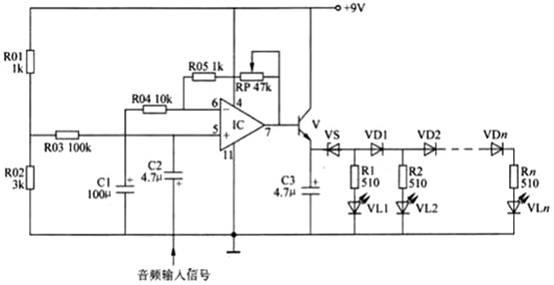 基于lm324设计的led电平指示器电路