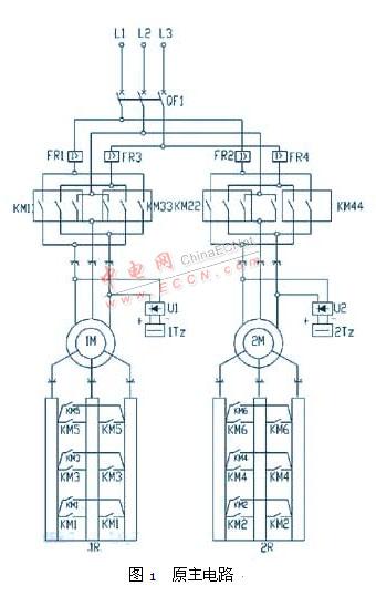 天车plc变频控制电路图