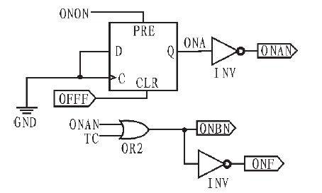 onon和off是电路模块的开关,tc/是cpld外接晶振的使能端,高电平有效.