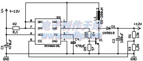 mc34063升压扩流电路图